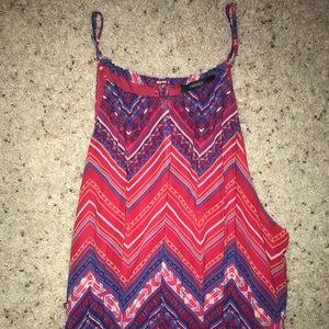 Pink and Purple Maxi Dress